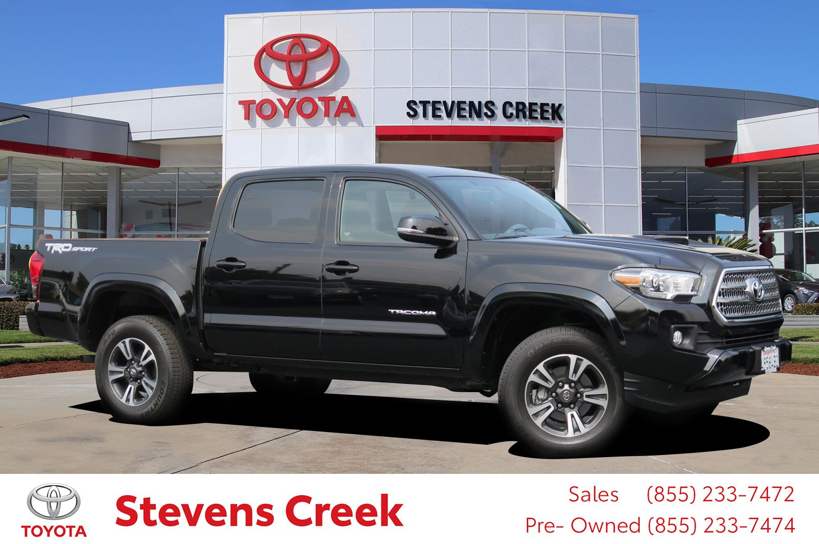 certified pre owned 2017 toyota tacoma trd sport pickup 5 ft crew cab pickup in san jose ct4908. Black Bedroom Furniture Sets. Home Design Ideas